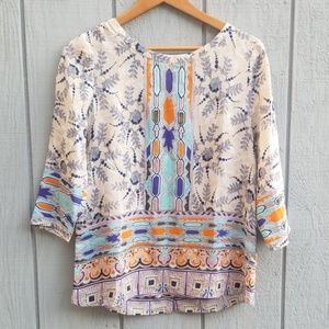Anthropologie Maeve Silk Blouse